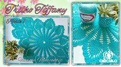 Trabajo de mesa Tiffany en Crochê.1 / 3 Por Vanessa Marcondes.