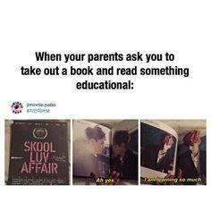 Quand tes parents te demande de prendre un livre éducative et de le lireAh ouiJe lis beaucoup