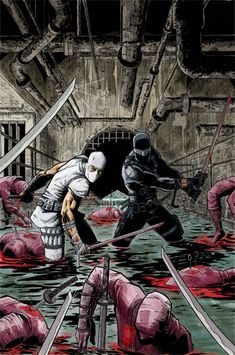 Snake Eyes and Storm Shadow by David Newbold