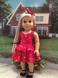 Little Buckeye Custom Dress for Your Favorite American Girl or Other 18 Inch Doll.    In Columbus, Ohio we love our Buckeyes! You can never have