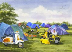 """007CG034 - Revvin Up at the Rally - 16"""" x 12"""" Print Only £12.99 9.5"""" x 6.5"""" Mounted to 14"""" x 11"""" - £12.99"""
