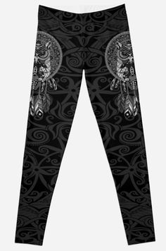 indian native Owl Dream catcher  Leggings #tshirt #clothing #womanfashion #fashion #digital #colored #pencil #pattern #vintage #blackwhite #ravenclaw #hawk #eagle #animal #bird #tattoo #mayan #indian #americannative