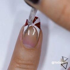 Simple Nail Art Videos, Nail Art Designs Videos, Nail Designs, Nail Art Hacks, Nail Art Diy, Stylish Nails, Trendy Nails, Cute Acrylic Nails, Gel Nails