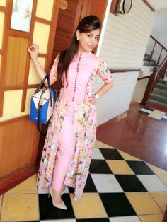 Check out this post - Box plates semi Anarkali with cigarette pants  created by Ekta Sobti and top similar posts, trendy products and pictures by celebrities and other users on Roposo.