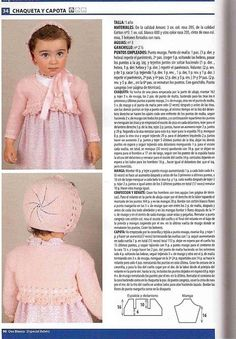 SOLO ROPITA DE BEBE EN PUNTO, GANCHILLO Y TELA (pág. 2895) | Aprender manualidades es facilisimo.com Baby Knitting Patterns, Knitting For Kids, Baby Patterns, Free Knitting, Stitch Patterns, Crochet Patterns, Knit Crochet, Crochet Hats, Baby Dress