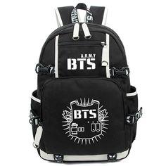 Kayisamo KPOP Bangtan Boys BTS Luminous Bookbag Shoulder Bag Backpack School Bag