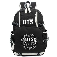 Kayisamo KPOP Bangtan Boys BTS Luminous Bookbag Shoulder Bag Backpack School Bag