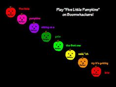 Boomwhacker Halloween song