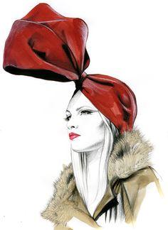 Dessin de Caroline Andrieu, illustratrice française. Elle publie dans les magazines féminins et croque de nombreux portraits.