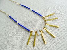 Sunbeam- Beaded Bib Opal Layering Necklace