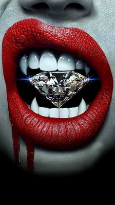 Diamond of vampire!-Diamond of vampire! Art Vampire, Vampire Love, Female Vampire, Vampire Girls, Vampire Fangs, Lip Art, Art Pop, Fantasy Kunst, Fantasy Art
