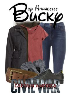 """""""Bucky Barnes"""" by annabelle-95 ❤ liked on Polyvore featuring J.Crew, J Brand, H&M, Hunter, Timberland and adidas Originals"""