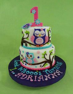 Owl Cake - Cake by Custom Cakes by Ann Marie - CakesDecor Cupcakes, Cupcake Cakes, Owl Cake Birthday, 7th Birthday, Birthday Ideas, Happy Birthday, Owl 1st Birthdays, Owl Cakes, Ladybug Cakes