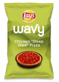"""Here's Chicago """"Deep Dips"""" Pizza as a #lays chip. Lay's Do Us A Flavor is back, & the search is on 4 the best flavor ideas. Create a flavor, choose a chip & u could win $1 million! https://www.dousaflavor.com See Rules  [FACEBOOK] My hometown pie, but re-named for #Lays #dousaflavor: CHICAGO """"DEEP DIPS"""" PIZZA (instead of """"deep dish""""). This wavy chip goes deep in2 dips! https://www.dousaflavor.com/#!/my-flavors/details?id=10218489  [TWITTER] https://twitter.com/phurchit/status/438056640407826432"""