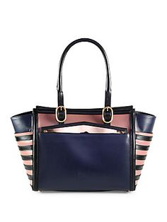 Christian Louboutin Farida Multi-Media Colorblock Top Handle Bag #Louboutin #Tote #Fall