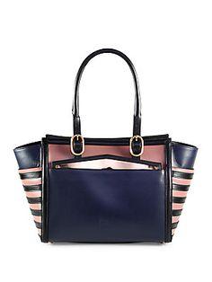 Christian Louboutin Farida Multi-Media Colorblock Top Handle Bag