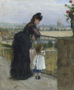 Berthe Morisot, Femme et Enfant au Balcon, 1872