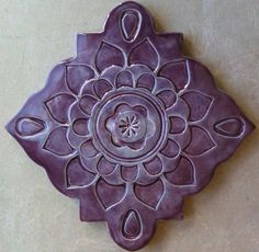 Ceramic trivet art tile wall hanging by artcrafthome on Etsy, $15.00