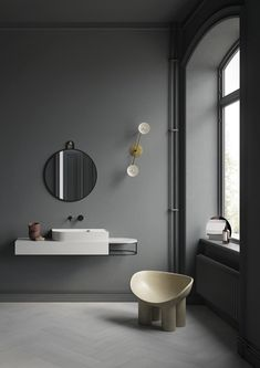 Statement-Making Washbins, Cabinets and Mirrors for a Modern and Stylish Bathroom - Nordic Design Bathroom Furniture Design, Bathroom Interior Design, Rustic Furniture, Outdoor Furniture, Best Bathroom Designs, Modern Bathroom Design, Bad Inspiration, Bathroom Inspiration, Dream Bathrooms