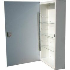 """Horizon Surface Mount Medicine Cabinet Size: 16"""" x 26"""" by American Pride. $100.79. G990M26S1 Size: 16"""" x 26"""" Features: -Medicine cabinet.-Door action: Swing.-Door action: Swing.-Body material: Steel.-Body material: Steel.-Hinges: 1 17"""" piano hinge tri brite galvanized.-Door catch: Magnetic catch with riveted striker plate.-Door catch: One riveted stainless steel striker plate and magnetic catch.-Door Backing: White high impact polystyrene.-Reversible.-Mounting: Recessed.-Projecti..."""