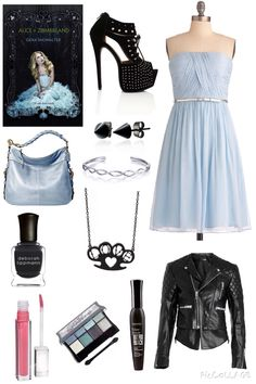 Alice in Zombieland by Gena Showalter Outfit Classy Outfits, Girl Outfits, Cute Outfits, Fashion Outfits, Alice Cosplay, Lolita Cosplay, Casual Cosplay, Cosplay Outfits, Alice In Wonderland Outfit