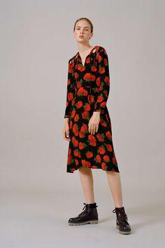 Rose Keyhole Midi Dress - Topshop USA