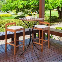 Mesa bistrô com banquetas para o Jardim. Clique na imagem para saber mais.