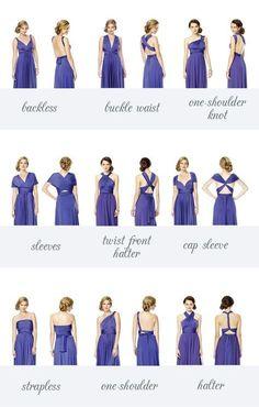 Los #vestidos convertibles son tu mejor aliado para vestir a tus #damas de honor. #Bridesmaids #BrideToBe #Wedding #Boda #Novia #FuturaNovia