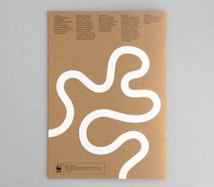 Printed collateral with a white ink on unbleached substrate for One Planet Living designed by Demian Conrad.