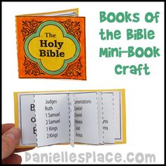Books of the Bible Mini Book Craft from www.daniellesplace.com