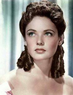"Gene Tierney-She was incredibly beautiful.  My favorite movie of hers is ""Heaven Can Wait."""