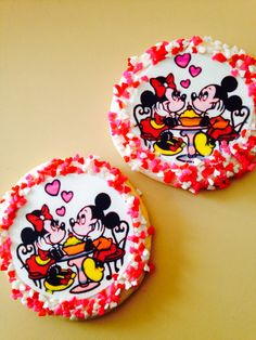 Mickey and Minnie anniversary cookies