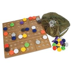 Braille Sudoku Puzzle Game with Board - Board Games - MaxiAids Color-coded pieces with Braille markings Large diameter pieces are easy to grasp Wooden board is square Blind and low vision accessible game Fun Puzzle Games, Color Puzzle, Sudoku Puzzles, Space Games, 9 Game, Adult Games, Educational Games, Dog Show, Deck Of Cards