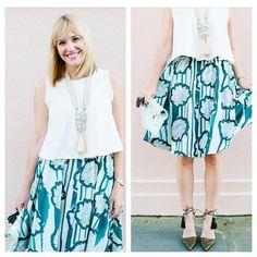 Waterlily Skirt #Anthropologie #MyAnthroPhoto
