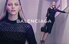 Sasha Pivovarova Balenciaga spring/summer 2015 campaign