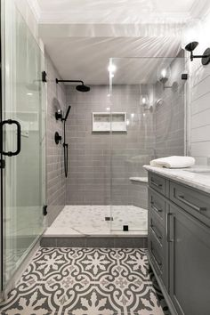 If you are looking for Bathroom Tile Design Ideas, You come to the right place. Below are the Bathroom Tile Design Ideas. This post about Bathroom Tile Design. Grey Subway Tiles, Grey Bathroom Tiles, Bathroom Renos, Modern Bathroom, Small Bathroom, Grey White Bathrooms, Beautiful Bathrooms, Grey Tile Shower, Grey Tiles