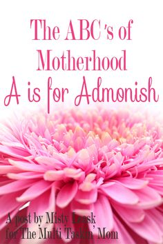 The ABC's of Motherhood - A is for Admonish
