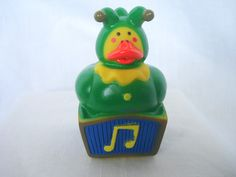 Jack in the box / Jester Classic Toy Rubber Duck  12/15/15  #JackInTheBox  #ADuckADay HerbsCraftsGifts
