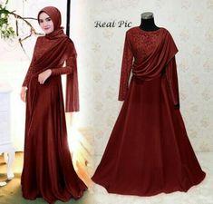 Ayana Muslim Pesta Modern Trend – On fashion Kebaya Hijab, Kebaya Dress, Dress Pesta, Dress Brokat Muslim, Muslim Gown, Baju India Muslim, Simple Bridesmaid Dresses, Simple Dresses, Trend Fashion