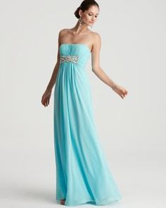 LM by Mignon Gown - Strapless Embellished Gown