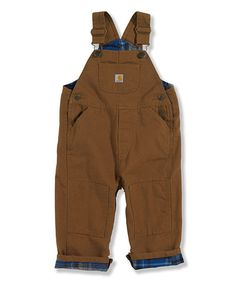 Another great find on #zulily! Brown Bib Overalls - Infant & Toddler by Carhartt