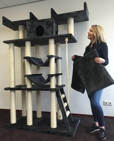 The Cat Temple Elite Plus is an absolute monster of a cat tree that provides a complete entertainment solution for you pampered puss! At 205cm's tall, this massive activity tree has everything your moggy could ever wish for! Hammocks, scratching posts, hanging ropes, platforms, ladders and kitty caves, this has is all and more! The high quality sisal wrapped scratching posts provides your kitty with numerous areas to climb and scratch and stretch their backs. Your kitty can climb up to ...