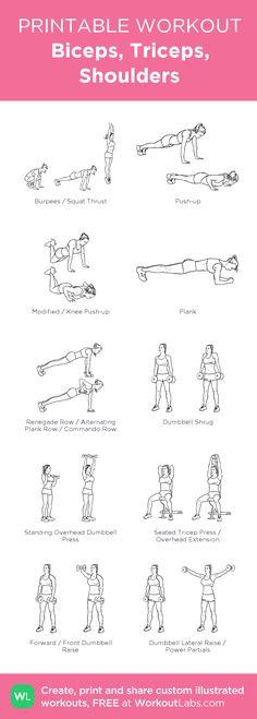 Printable Back Exercises Dumbbells