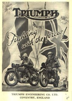 Vintage Old Motorcycles Advertisements