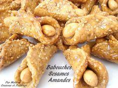 Gâteaux Marocains au miel: Babouches aux Sésames et Amandes