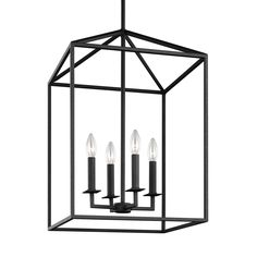 Perryton Blacksmith 12.5 Inch Four Light Lantern Pendant Sea Gull Lighting Lantern Pendant