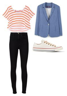 """Untitled #176"" by kendallrose0716 ❤ liked on Polyvore featuring Rebecca Minkoff, Violeta by Mango, Converse and Frame Denim"