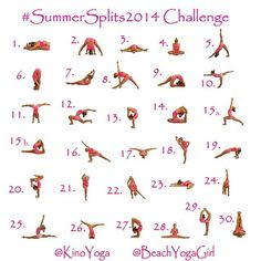Motivation Monday: Instagram Yoga Challenge for June (Summer Splits) | The Yogi Movement