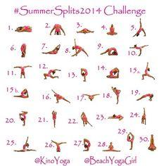 Motivation Monday: Instagram Yoga Challenge for June (Summer Splits)   The Yogi Movement