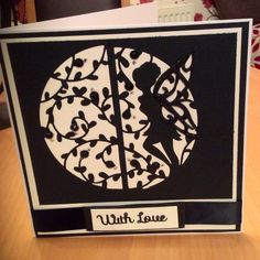 So simple and elegant. Handmade card using tonic fairy dies.